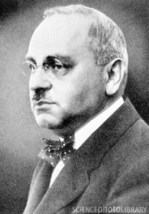 """Alfred Adler (1870-1937), Austrian psychologist. Adler was a contemporary of Sigmund Freud, and was invited by him to join the Vienna Psychoanalytic Society, a group that discussed current thoughts in psychiatry. Adler disagreed with Freud's theory that mental disorders had their roots in sexual traumas, and further disagreed with the sexual emphasis in Freud's dream interpretations. In 1911, Adler left Freud's group and formed his own school. In his book The Neurotic Constitution (1912) he outlined his theory of """"Individual Psychology"""": looking at a person as a whole rather than dividing them into smaller pieces. He also introduced the concept of an inferiority complex."""